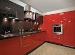 Кухня по поръчка в червен полиглос