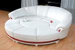 луксозен кръгъл диван с маса