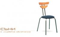 Столове с дървена облегалка за заведения